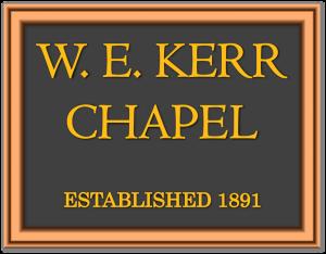 W.E. Kerr Chapel Original Logo 1891